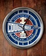 BYU Cougars Chrome Wall Clock