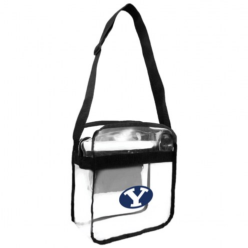 BYU Cougars Clear Crossbody Carry-All Bag