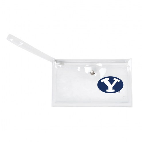 BYU Cougars Clear Ticket Wristlet