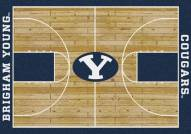 BYU Cougars College Home Court Area Rug