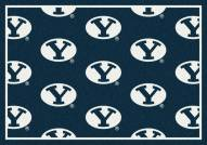 BYU Cougars College Repeat Area Rug