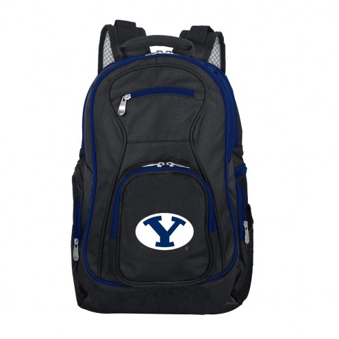 NCAA BYU Cougars Colored Trim Premium Laptop Backpack
