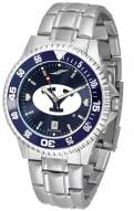 BYU Cougars Competitor Steel AnoChrome Color Bezel Men's Watch
