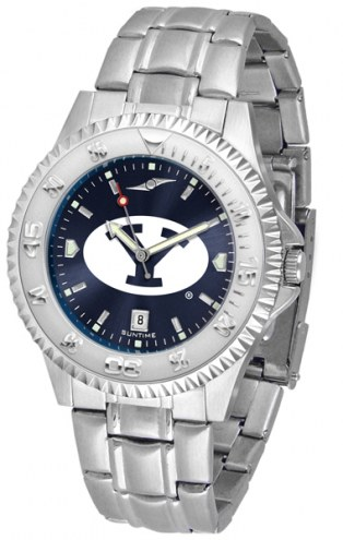 BYU Cougars Competitor Steel AnoChrome Men's Watch
