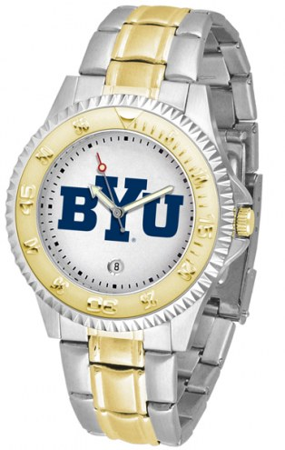 BYU Cougars Competitor Two-Tone Men's Watch