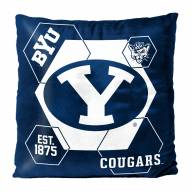 BYU Cougars Connector Double Sided Velvet Pillow