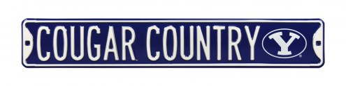 BYU Cougars Country Street Sign