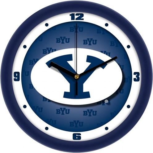 BYU Cougars Dimension Wall Clock