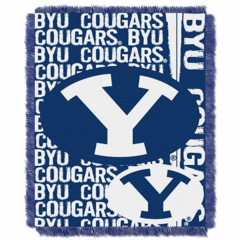 BYU Cougars Double Play Woven Throw Blanket