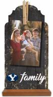 BYU Cougars Family Tabletop Clothespin Picture Holder
