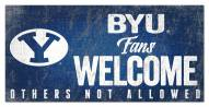 BYU Cougars Fans Welcome Sign