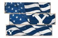 BYU Cougars Flag 3 Plank Sign