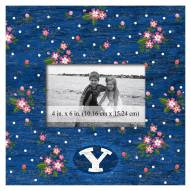 """BYU Cougars Floral 10"""" x 10"""" Picture Frame"""