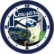 BYU Cougars Football Helmet Wall Clock