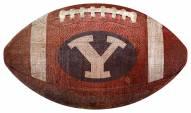 BYU Cougars Football Shaped Sign