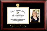 BYU Cougars Gold Embossed Diploma Frame with Portrait