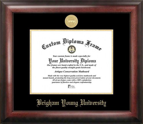 BYU Cougars Gold Embossed Diploma Frame