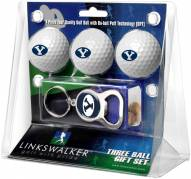 BYU Cougars Golf Ball Gift Pack with Key Chain
