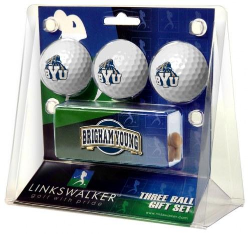 BYU Cougars Golf Ball Gift Pack with Slider Clip
