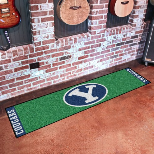 BYU Cougars Golf Putting Green Mat