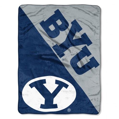 BYU Cougars Halftone Raschel Blanket