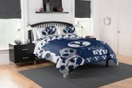 BYU Cougars Hexagon Full/Queen Comforter & Shams Set