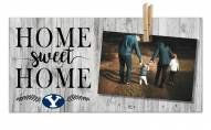 BYU Cougars Home Sweet Home Clothespin Frame