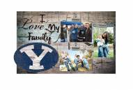 BYU Cougars I Love My Family Clip Frame