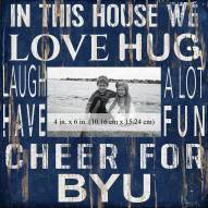 """BYU Cougars In This House 10"""" x 10"""" Picture Frame"""