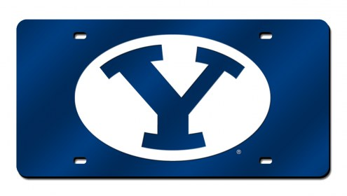 BYU Cougars Laser Cut License Plate