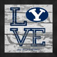 BYU Cougars Love My Team Square Wall Decor