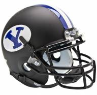 BYU Cougars Matte Black Schutt Mini Football Helmet