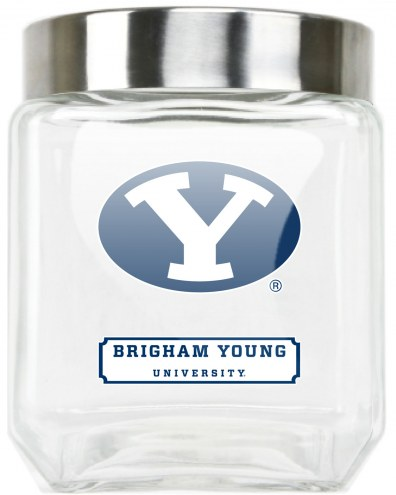 BYU Cougars Medium Glass Canister