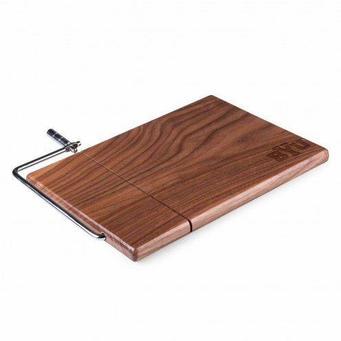 BYU Cougars Meridian Cutting Board & Cheese Slicer