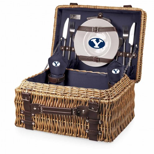 BYU Cougars Navy Champion Picnic Basket