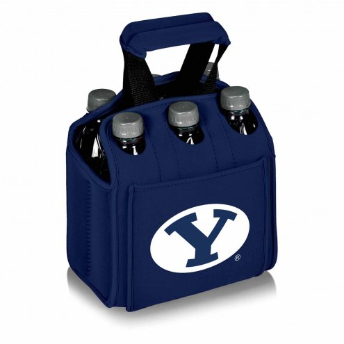 BYU Cougars Navy Six Pack Cooler Tote