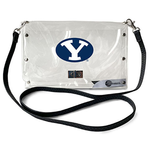 BYU Cougars Clear Envelope Purse