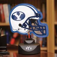 BYU Cougars Neon Helmet Desk Lamp