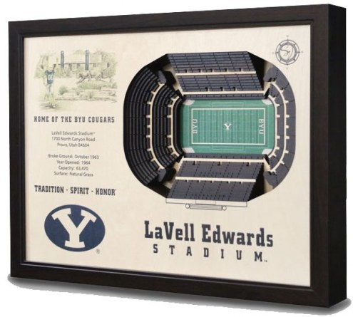 BYU Cougars 25-Layer StadiumViews 3D Wall Art