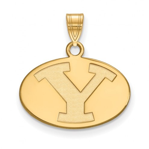 BYU Cougars NCAA Sterling Silver Gold Plated Small Pendant