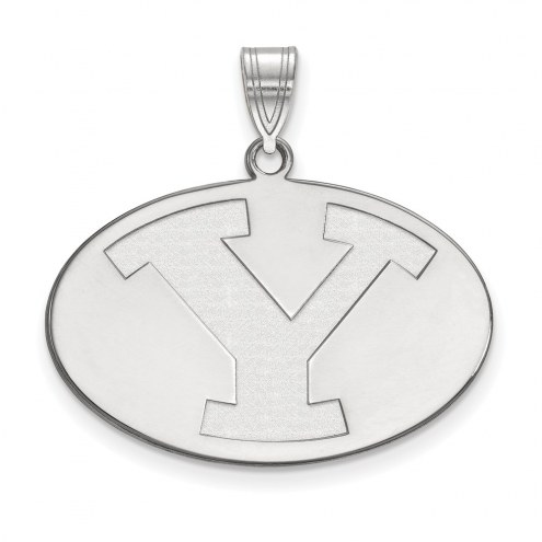 BYU Cougars NCAA Sterling Silver Large Pendant