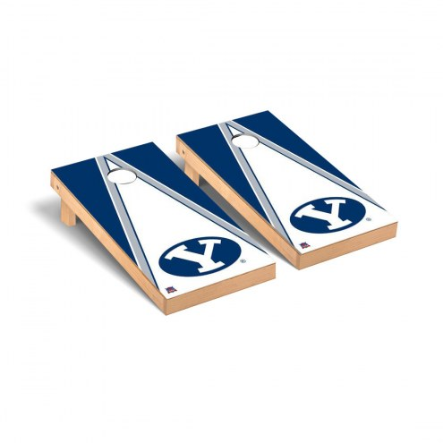 BYU Cougars NCAA Triangle Cornhole Game Set