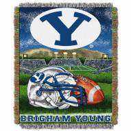 BYU Cougars NCAA Woven Tapestry Throw Blanket