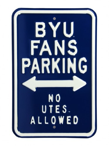 BYU Cougars No Utes Parking Sign