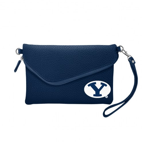 BYU Cougars Pebble Fold Over Purse