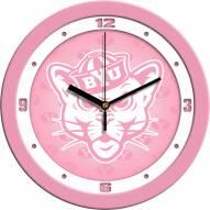 BYU Cougars Pink Wall Clock