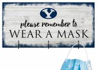 BYU Cougars Please Wear Your Mask Sign