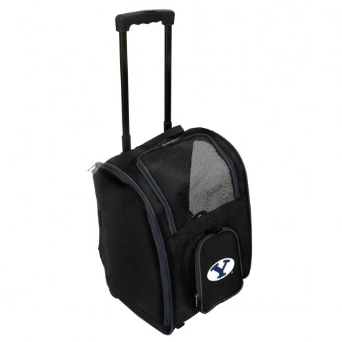BYU Cougars Premium Pet Carrier with Wheels