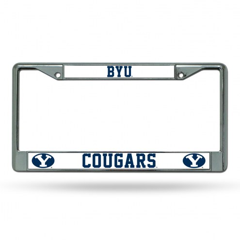 BYU Cougars Chrome License Plate Frame