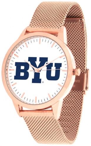 BYU Cougars Rose Mesh Statement Watch